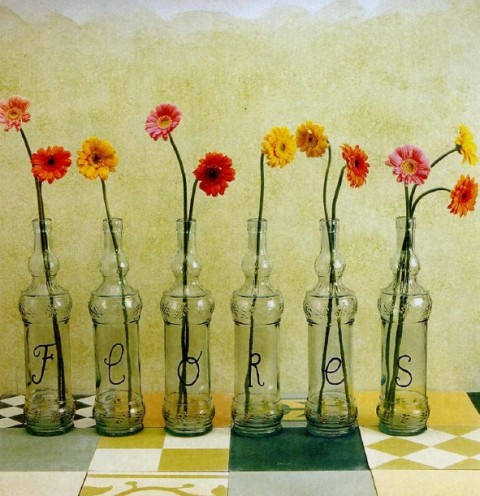 floreros con letras