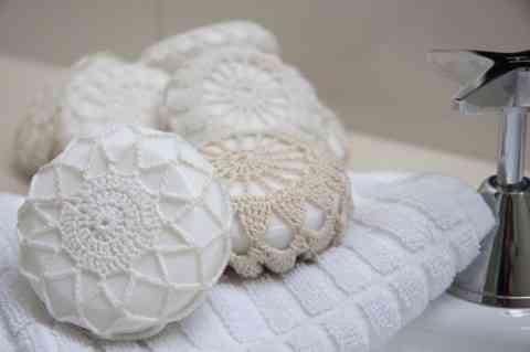 jabones con crochet