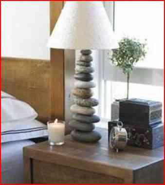 lámpara de rocas