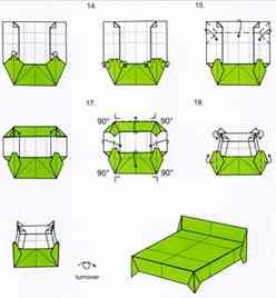 Origami muebles de papel - Muebles de papel ...
