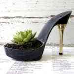 Macetero original con forma de zapato