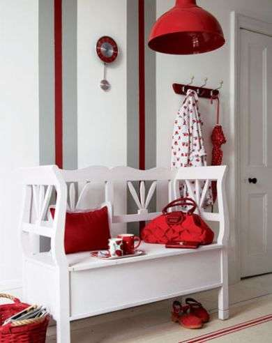 white and red decoration