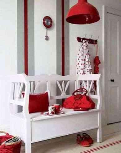 decoración blanca y roja