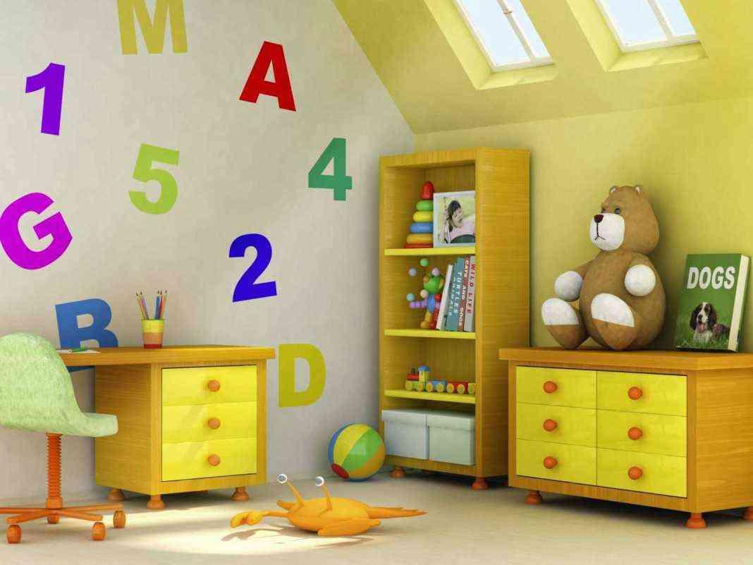 habitación infantil abecedario
