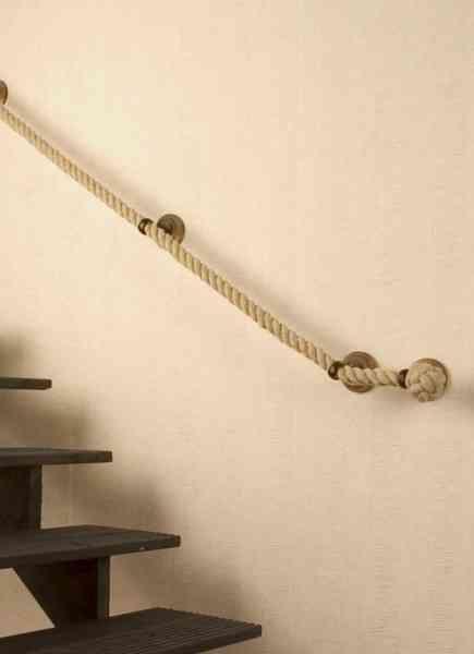 decoraci n rustica con pasamanos de cuerda