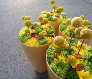 Composiciones florales decorativas flor marciana