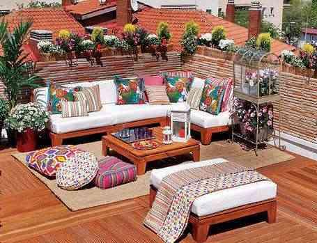 la terraza no ser nunca la excepcin este espacio es ideal para tomar respiro y oxigenarnos igualmente es un espacio estupendo para recibir visitas - Decoracion Terrazas