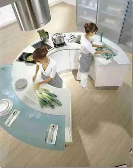 cocina moderna en grandes espacios -1