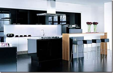 modern kitchen in large spaces -4