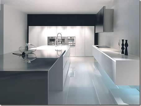 modern kitchen in large spaces -8