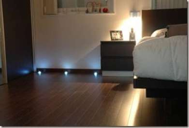 luminarias en el suelo