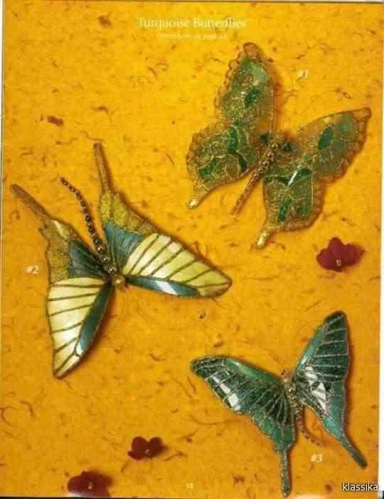 mariposas hechas a mano