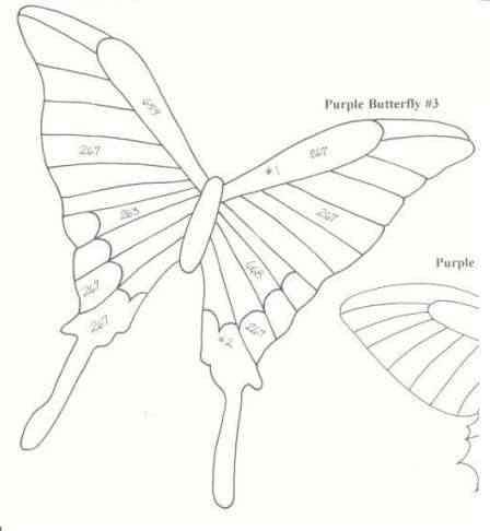 plantilla de mariposa para descargar