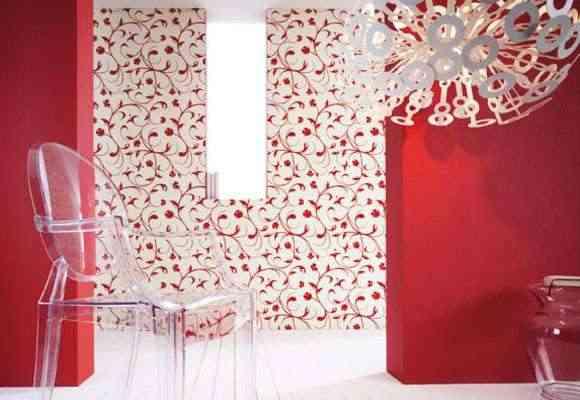 wallpaper + painted walls