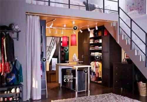 Ideas de vestidor con muebles Ikea