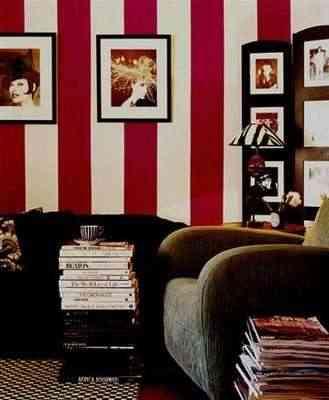 Rayas rojo y blanco - Papel pintado rojo y blanco ...