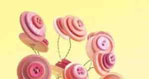 manualidades para hacer flores con botones