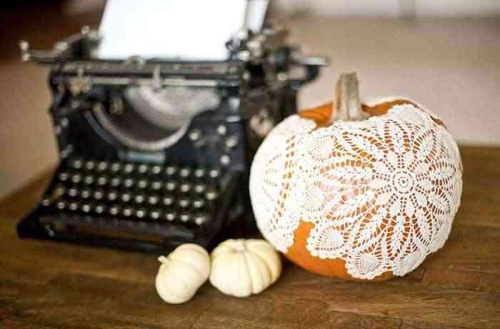 Calabazas en tu decoracion de Halloween - calabaza bordado