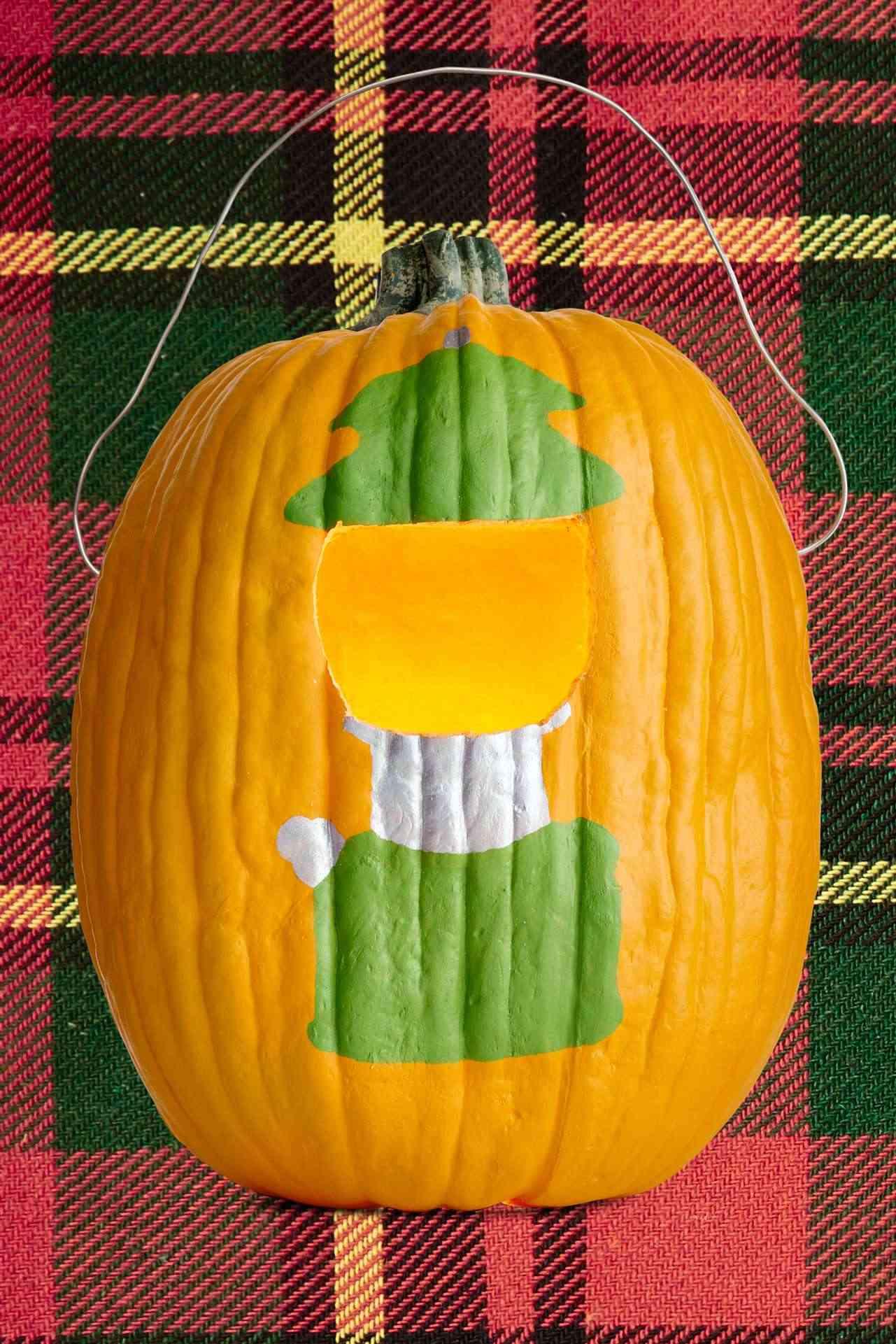 Calabazas en tu decoracion de Halloween - lampara