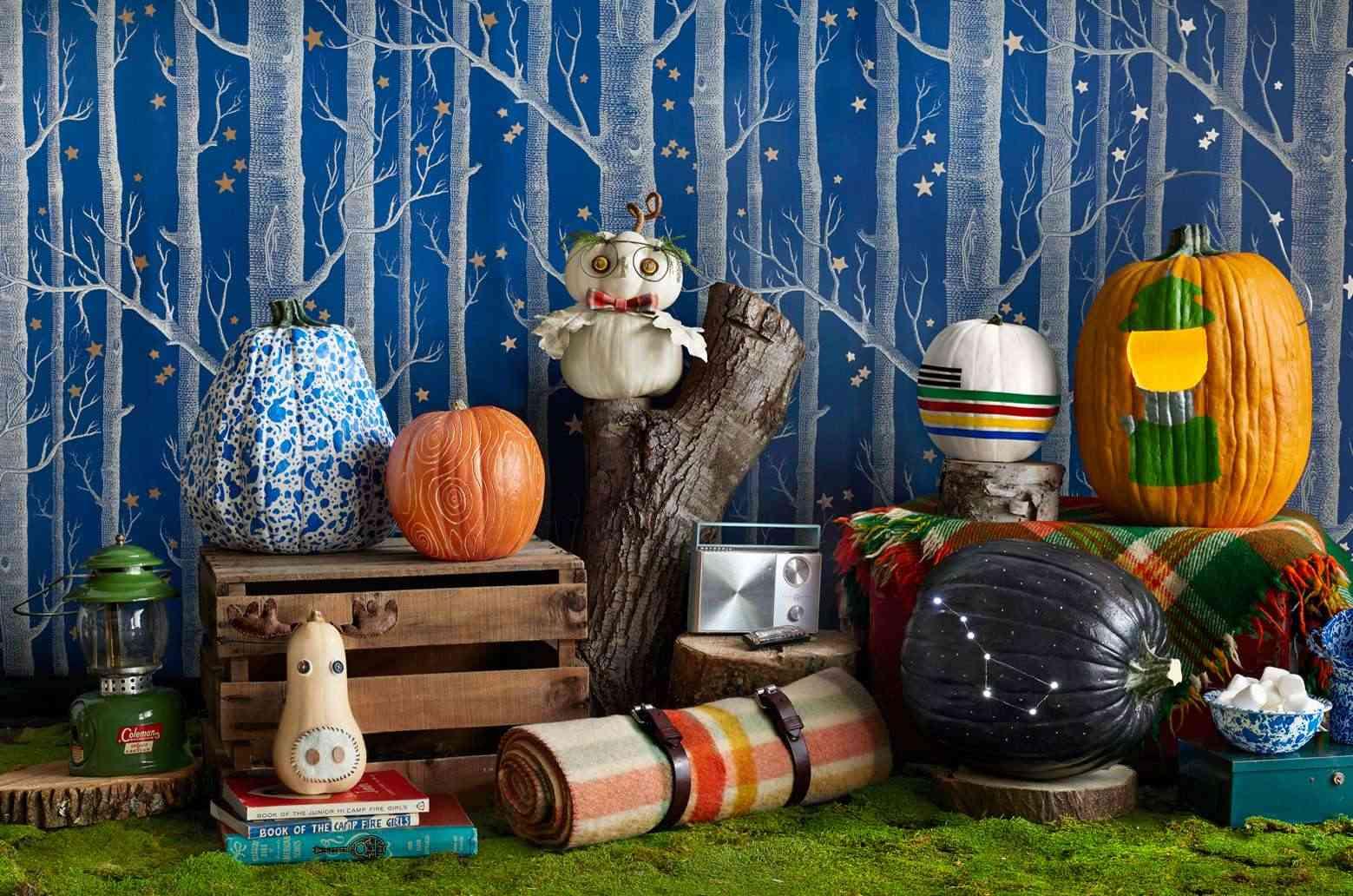 Calabazas en tu decoracion de Halloween - un bosque