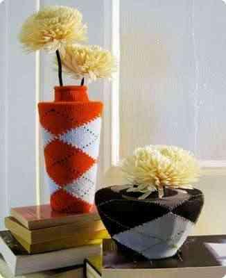 calcetines para crear jarrones