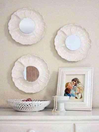 los materiales que necesitars para ello sern algunos platos de cermica porcelana o loza tantos como espejos quieras realizar