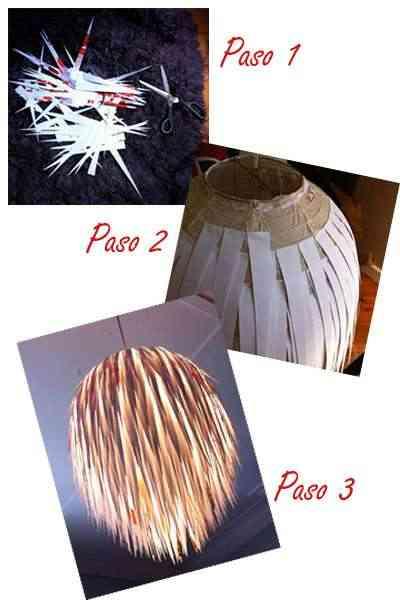 tutorial para crear tu lámpara de papel