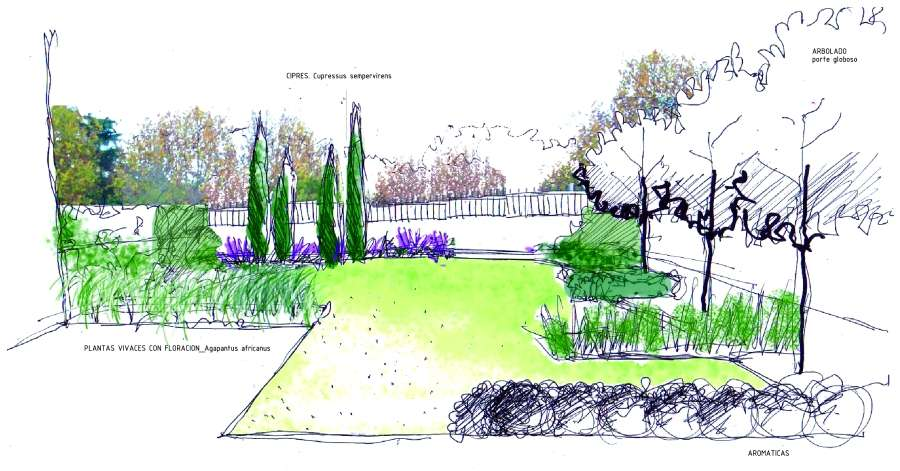 Drawing idea Garden