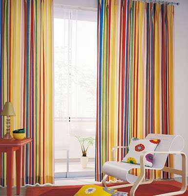 curtains in the decoration-