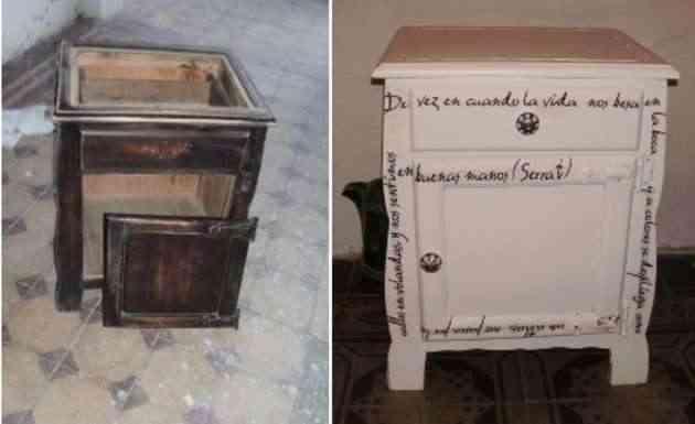 Decoupage recicla tus mesitas de noche - Restaurar mesita de noche ...