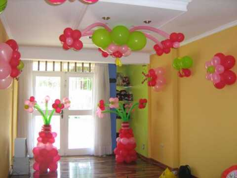 Decoration with balloons for children's parties