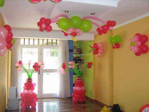 Decoración con globos de fiestas infantiles