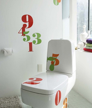 decorate with iconographic decoration numbers.