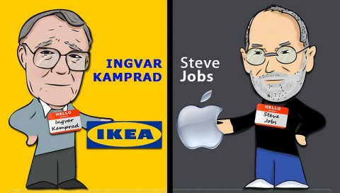 Ikea vs Apple (Ingvar Kamprad vs Steve Jobs)