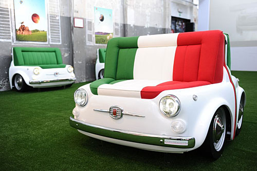 sofá fiat 500 design colletion