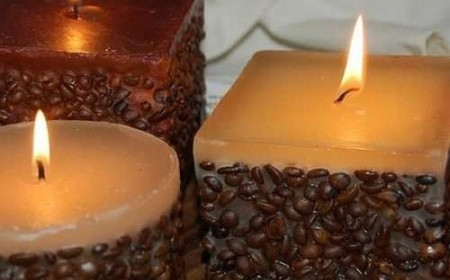 How to make candles with coffee aroma