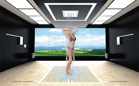 Design and interior decoration of a bathroom of the future