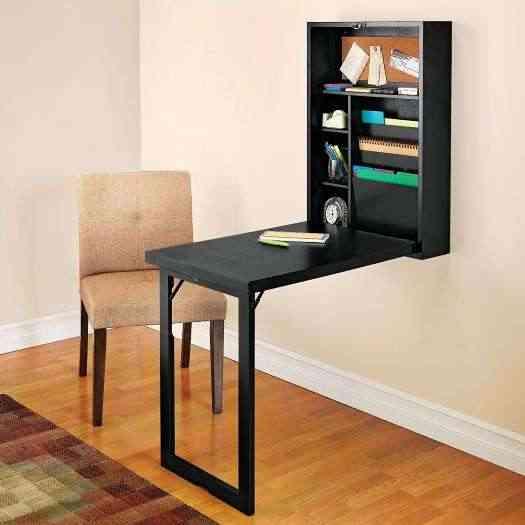 Estantería y escritorio plegable en uno