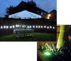 Iluminación nocturna para exteriores