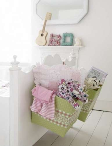 baskets on the bed