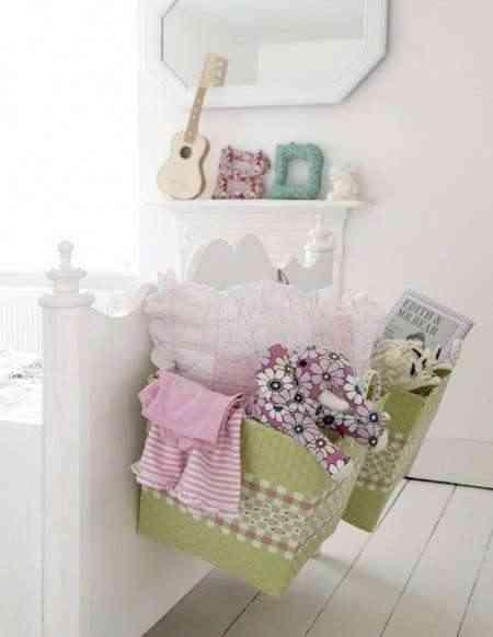 Cestas para decorar y almacenar for Mueble que se pone a los pies de la cama