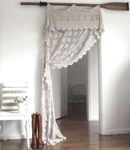 from bedspread to curtain