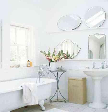 espejos y flores