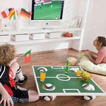 mesa campo de fútbol