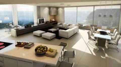 Decoración de la sala de estar con estilo moderno