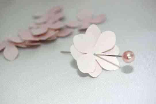 Topiario con flores de papel 2a