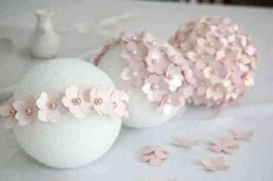 Topiario con flores de papel 3