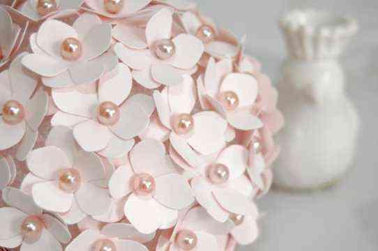 Topiario con flores de papel detalles