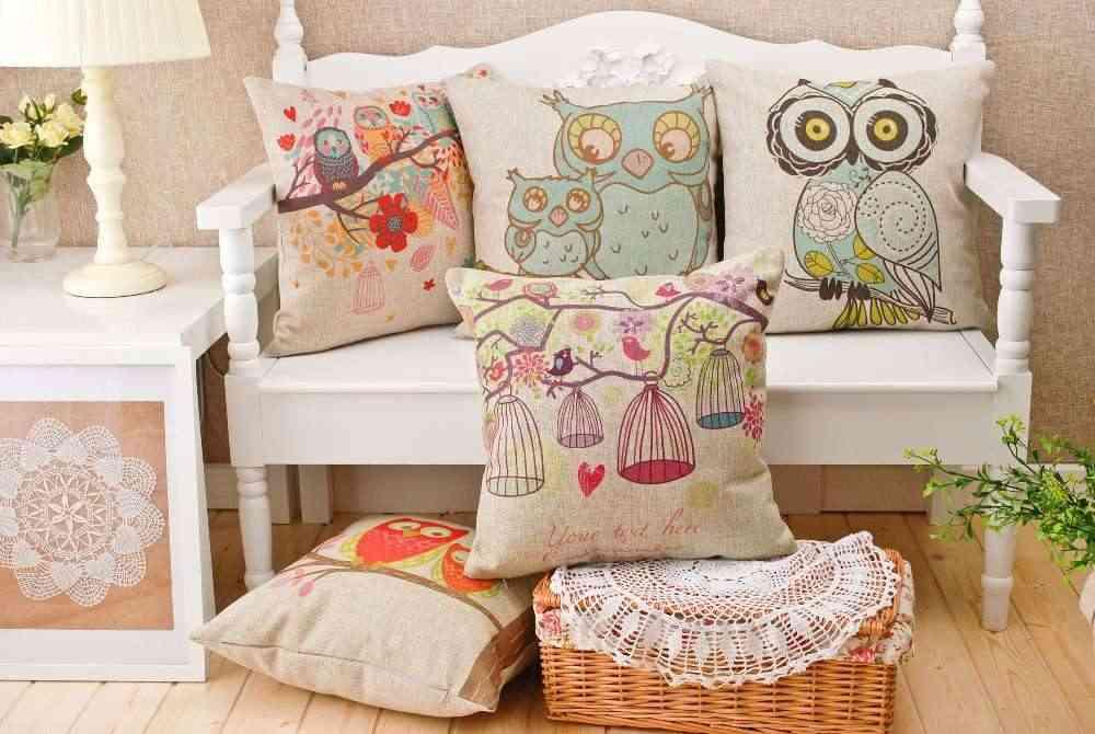 almohadas decorativas y cojines