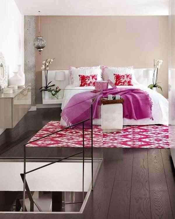 decoracion de moderno apartamento en rosa